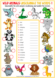 wild animals esl printable vocabulary worksheets. Black Bedroom Furniture Sets. Home Design Ideas