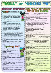Future Tense ESL Printable Worksheets and Exercises
