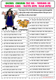Word Order ESL Printable Worksheets and Exercises